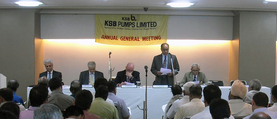 The KSB Pumps Ltd. Annual General Meeting in progress